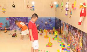 Khu vui chơi cho trẻ em tại phòng khám nhi
