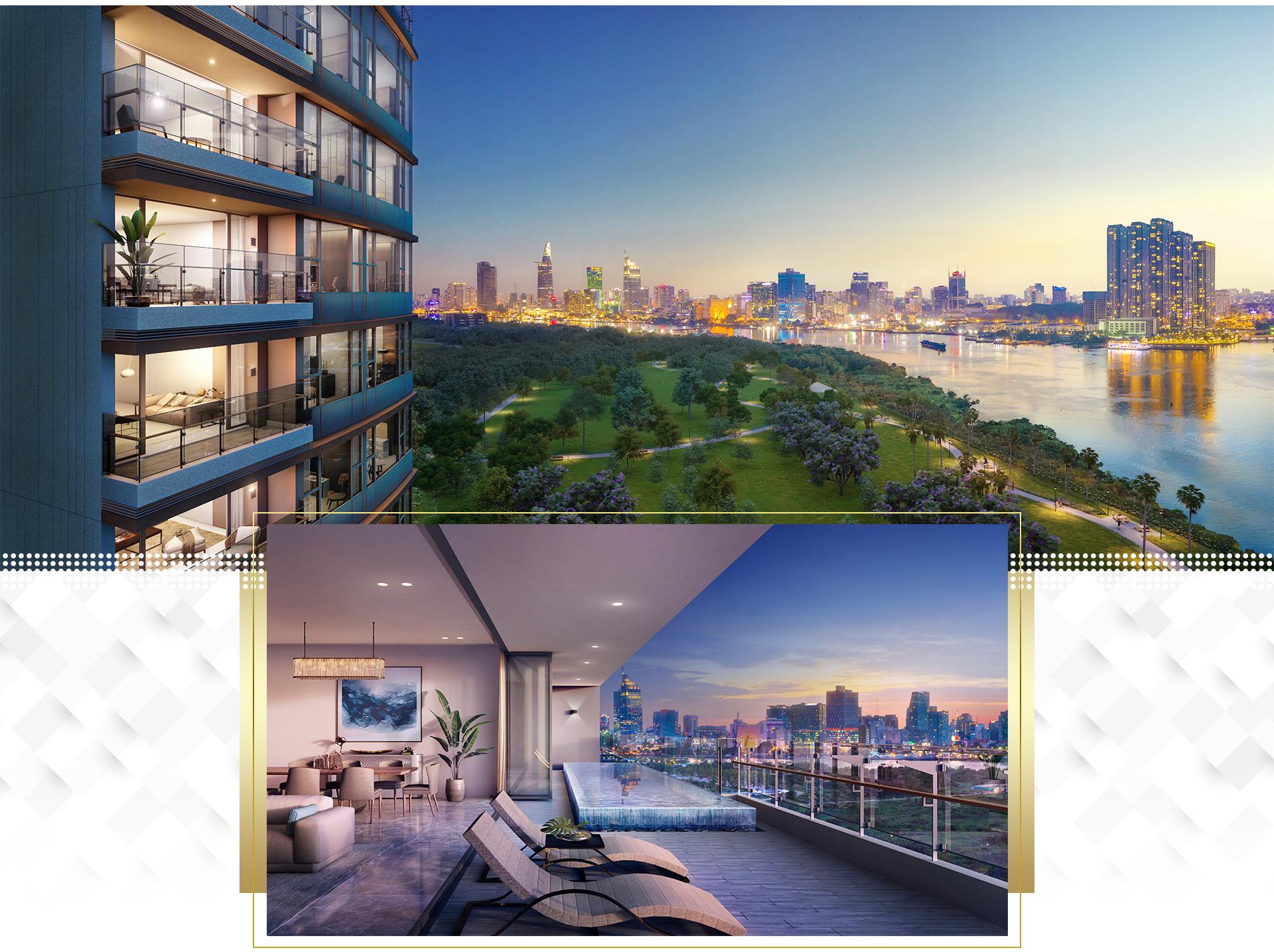 Trải nghiệm khác biệt tại penthouse ven sông Sài Gòn 6