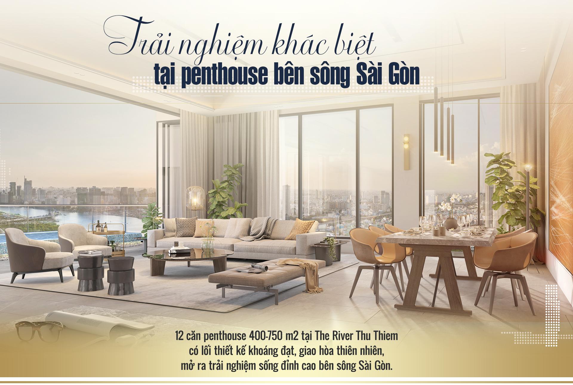 Trải nghiệm khác biệt tại penthouse ven sông Sài Gòn 1