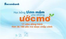 Sacombank trao 3.555 suất học bổng cho học sinh khó khăn