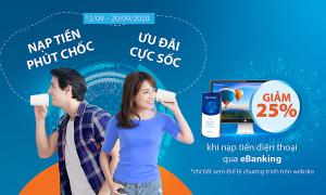 Sacombank triển khai chương trình 'Nạp tiền phút chốc - Ưu đãi cực sốc'
