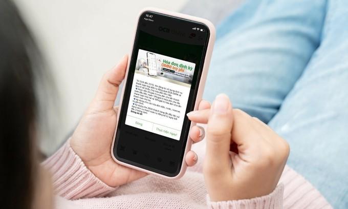 Ngân hàng điện tử tự động thanh toán hóa đơn hỗ trợ người dùng