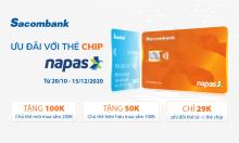Sacombank ưu đãi chủ thẻ nội địa Napas