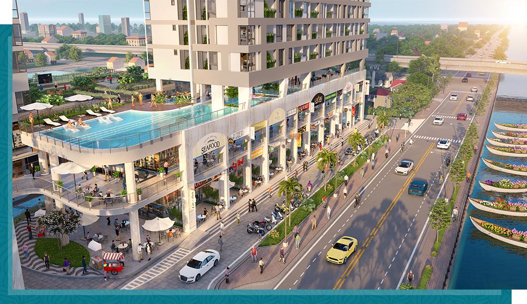 Phố thương mại 'một điểm đến' tạo sức hút cho dự án căn hộ 3