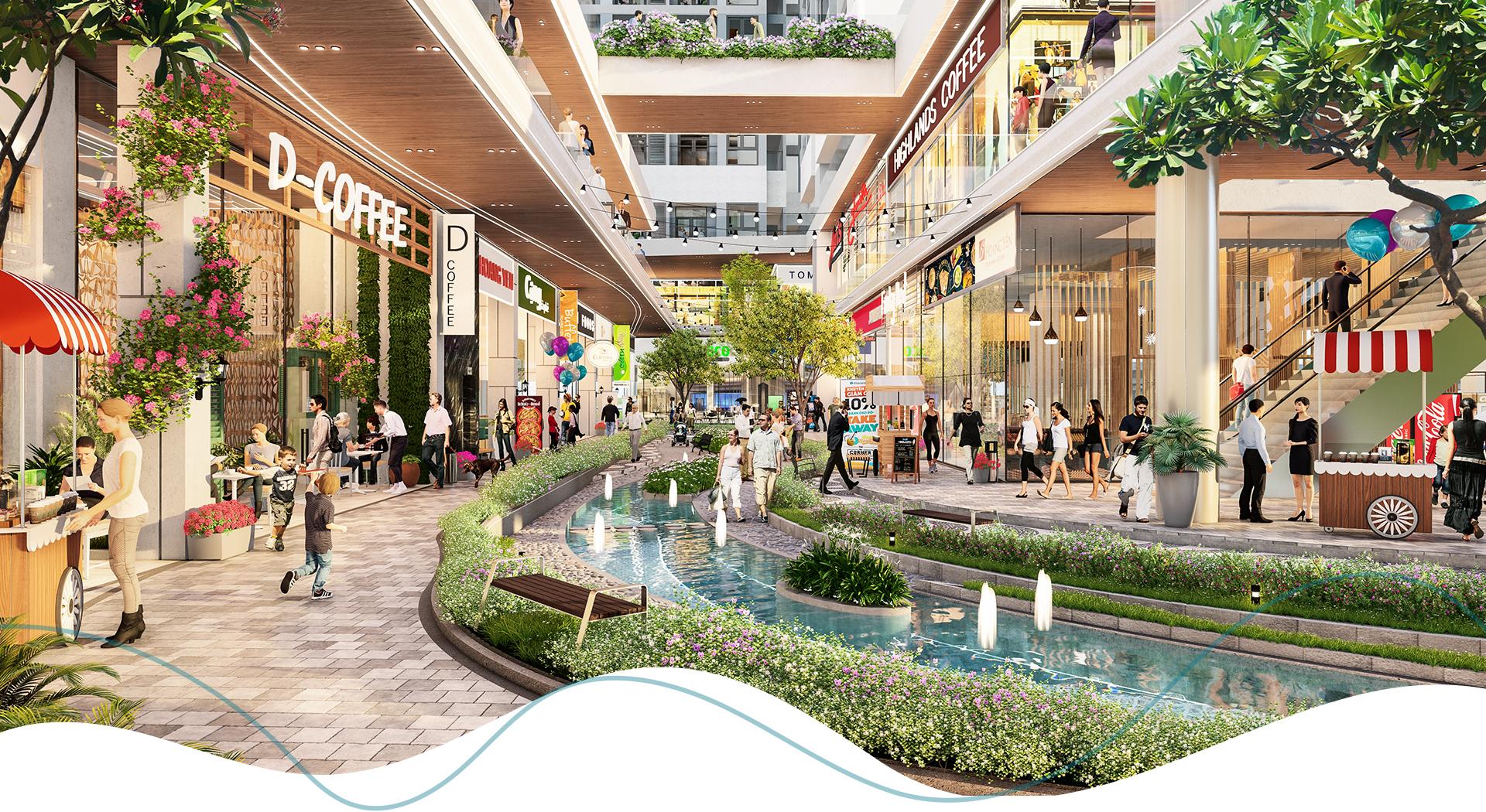 Phố thương mại 'một điểm đến' tạo sức hút cho dự án căn hộ 5