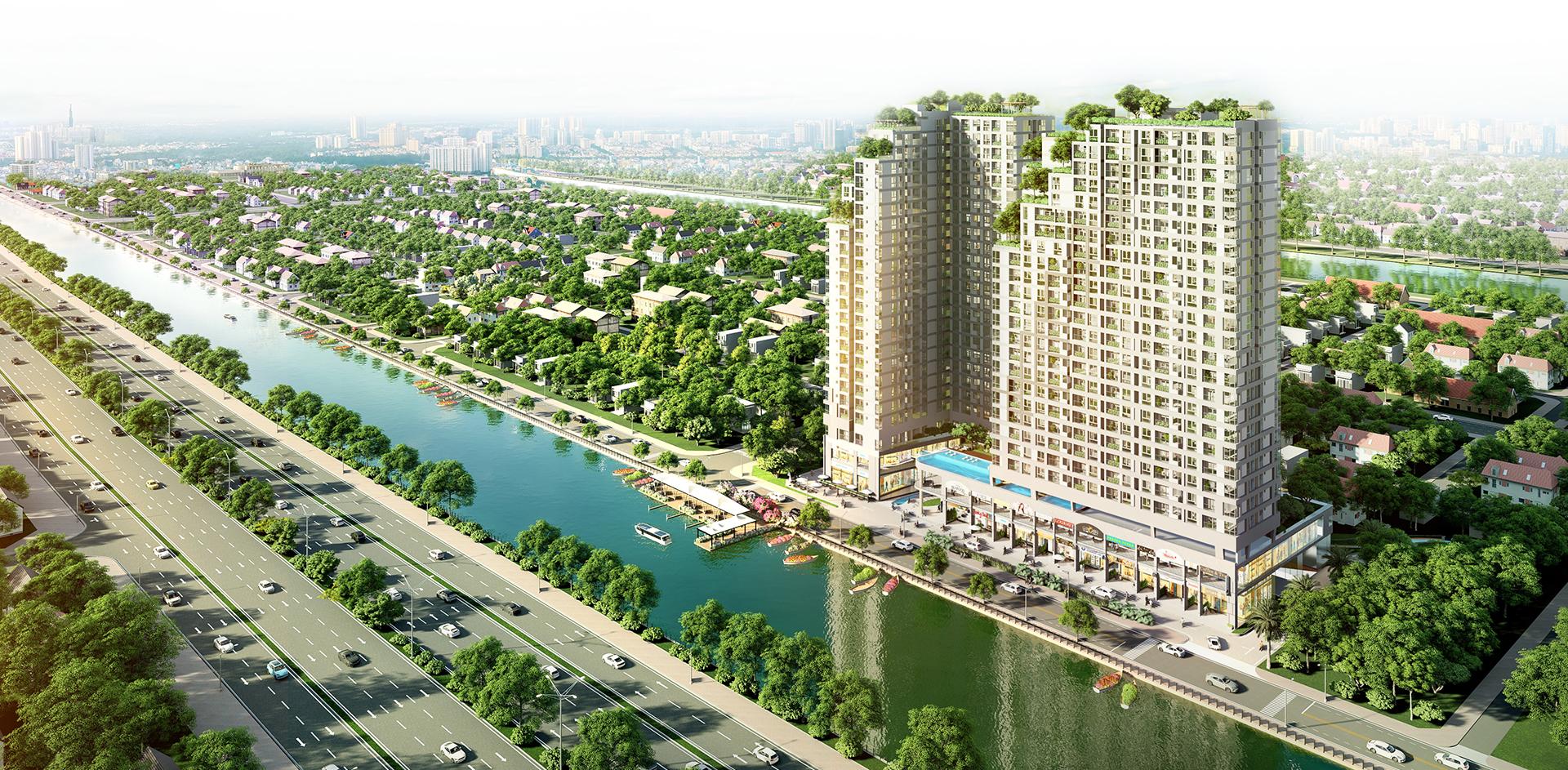 Phố thương mại 'một điểm đến' tạo sức hút cho dự án căn hộ 10