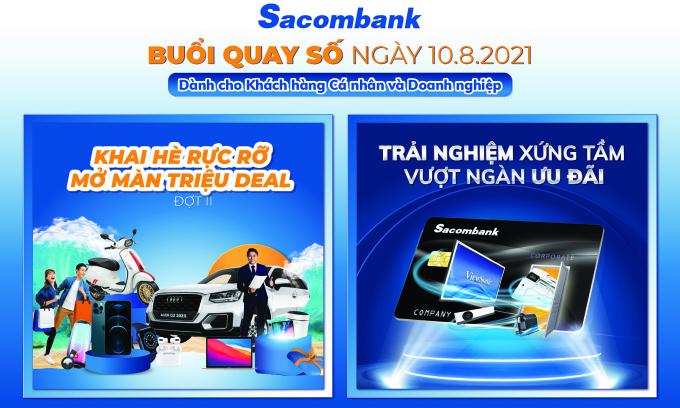 Sacombank trao thưởng iPhone, máy in HP cho khách hàng