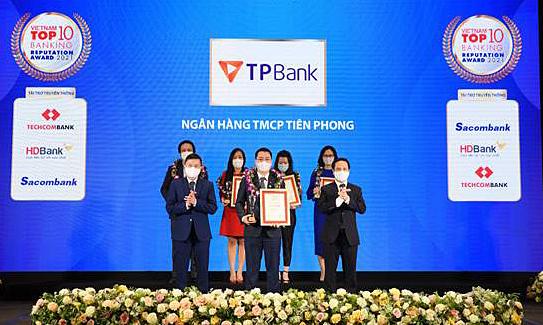 TPBank vào top 10 ngân hàng thương mại Việt Nam uy tín
