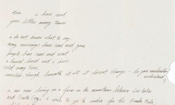 Đấu giá thư viết tay năm 18 tuổi của Steve Jobs